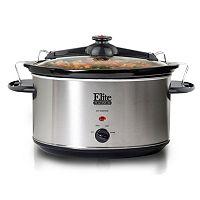 Elite Cuisine 8.5-qt. Stainless Steel Slow Cooker