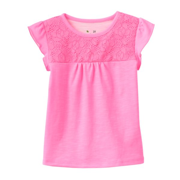 Jumping Beans® Floral Lace Tee - Toddler Girl