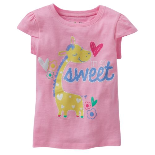 Jumping Beans® Toddler Girl Glitter Graphic Tee