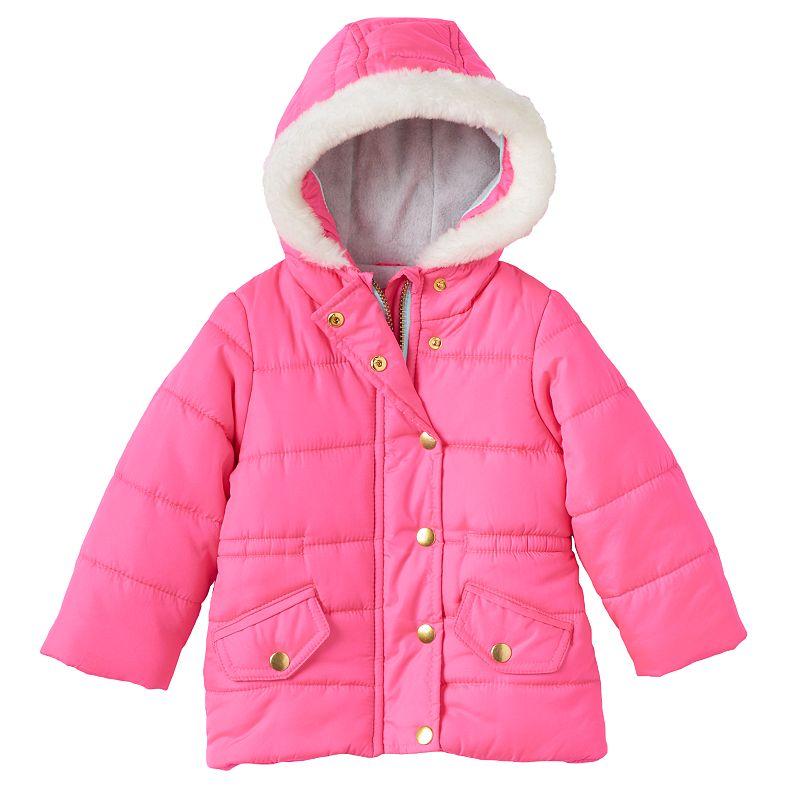 Baby Girl Carter's Faux-Fur Puffer Jacket