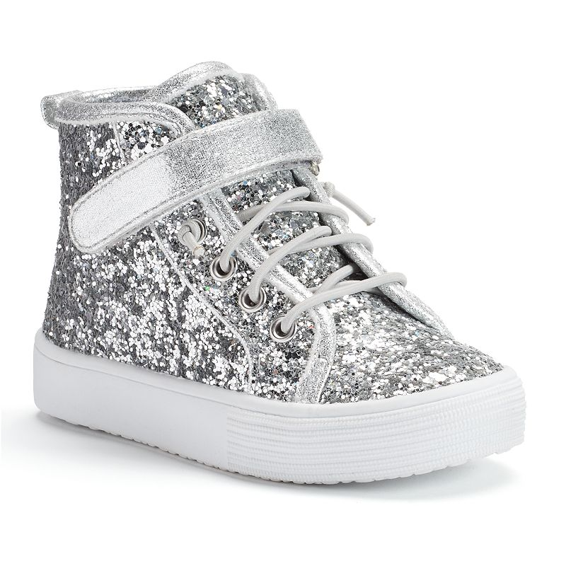 Jumping Beans® Toddler Girls' Glitter High-Top Sneakers