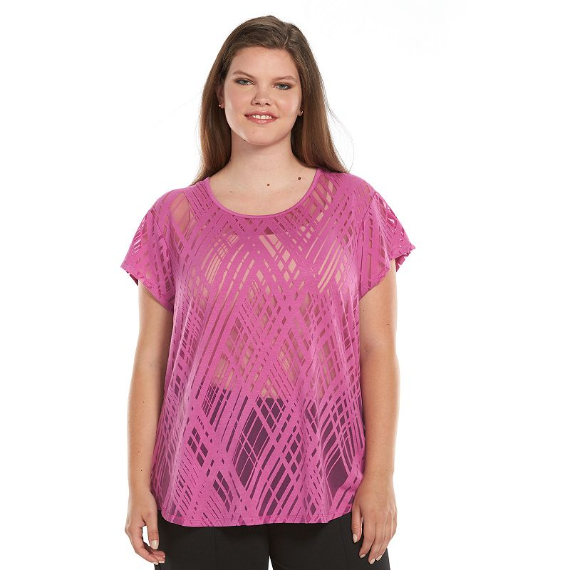 Plus Size Apt. 9® Burnout Top