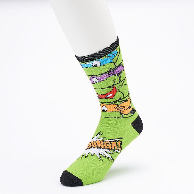 Men's Teenage Mutant Ninja Turtles 4 Faces Crew Socks
