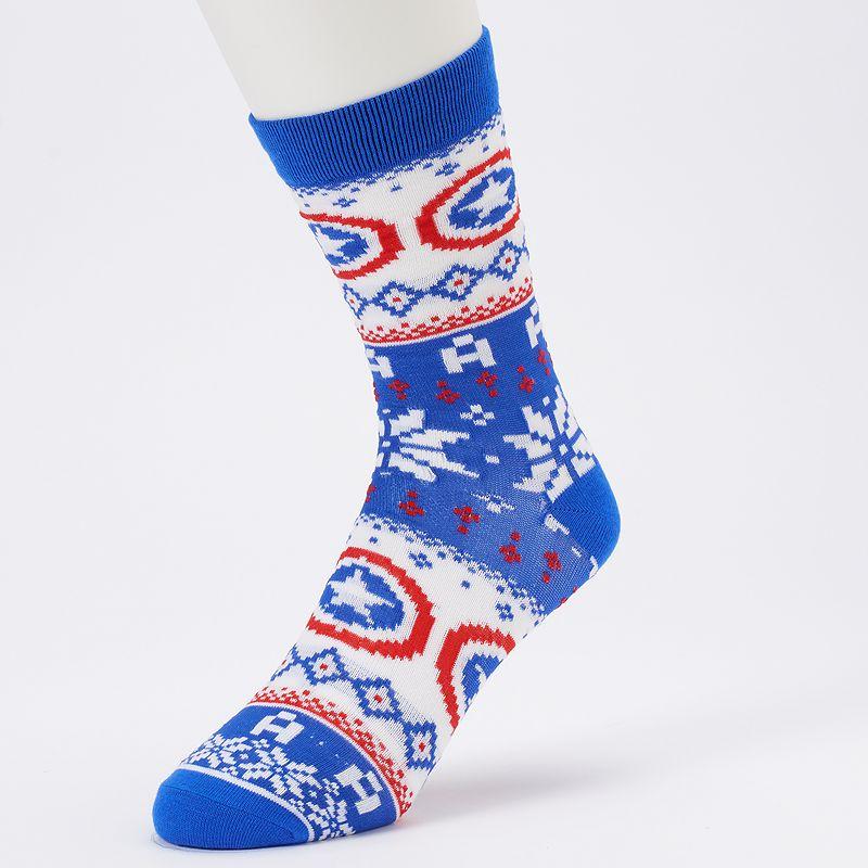 Men's Marvel Captain America Fairisle Sweater Crew Socks