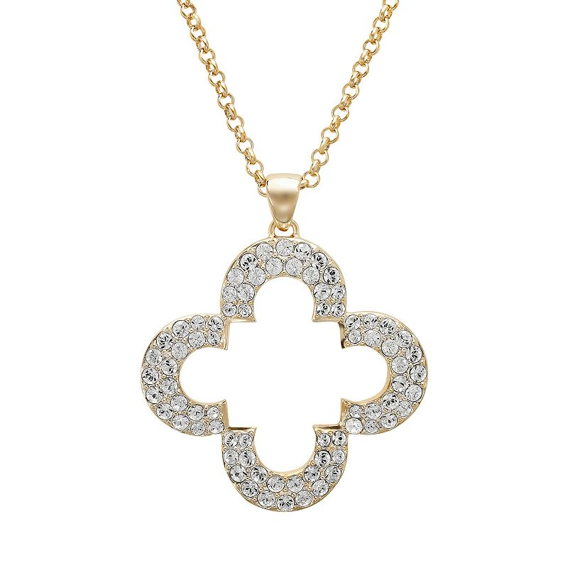 Marie Claire Jewelry Crystal Clover Pendant Necklace