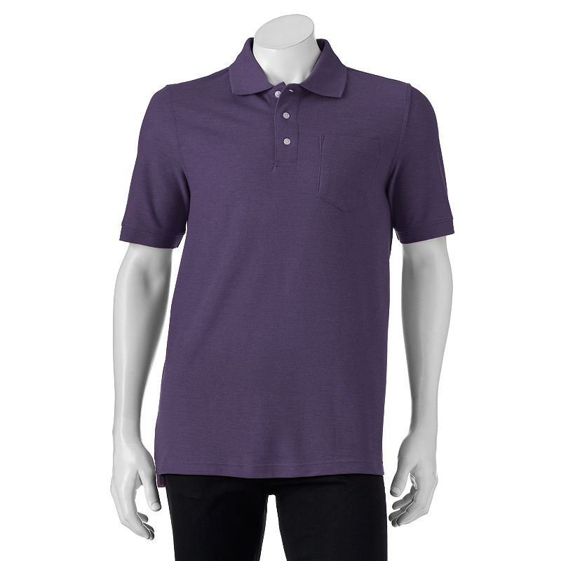 Men's Croft & Barrow Heathered Pique Classic-Fit Polo