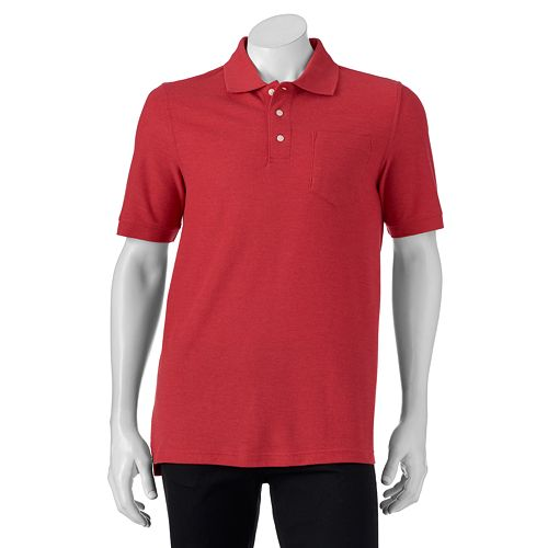 Croft & Barrow Heathered Pique Mens Polo