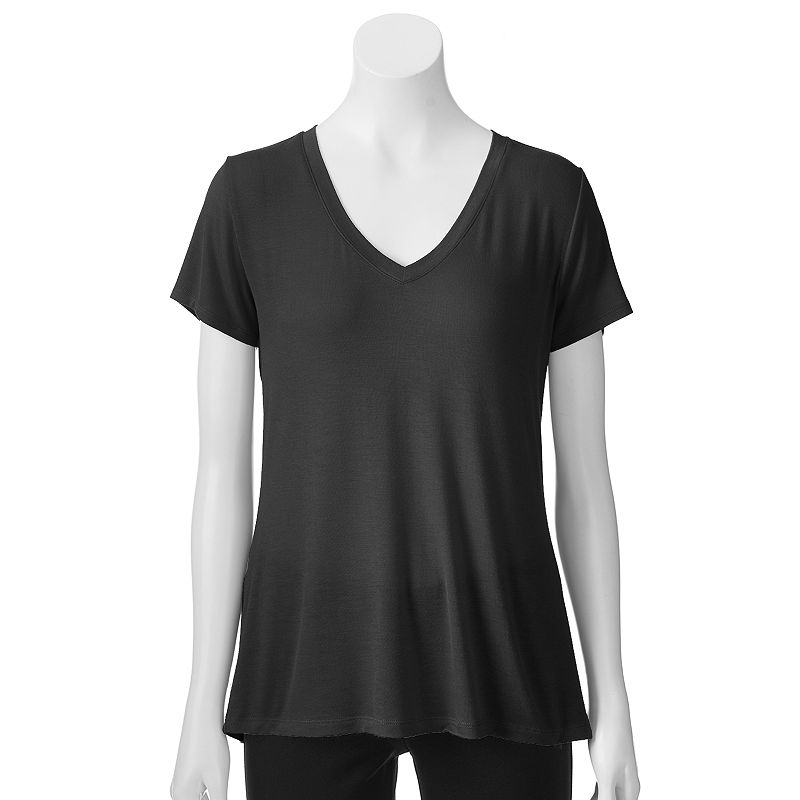 Apt. 9® Essential Solid V-Neck Tee - Women's