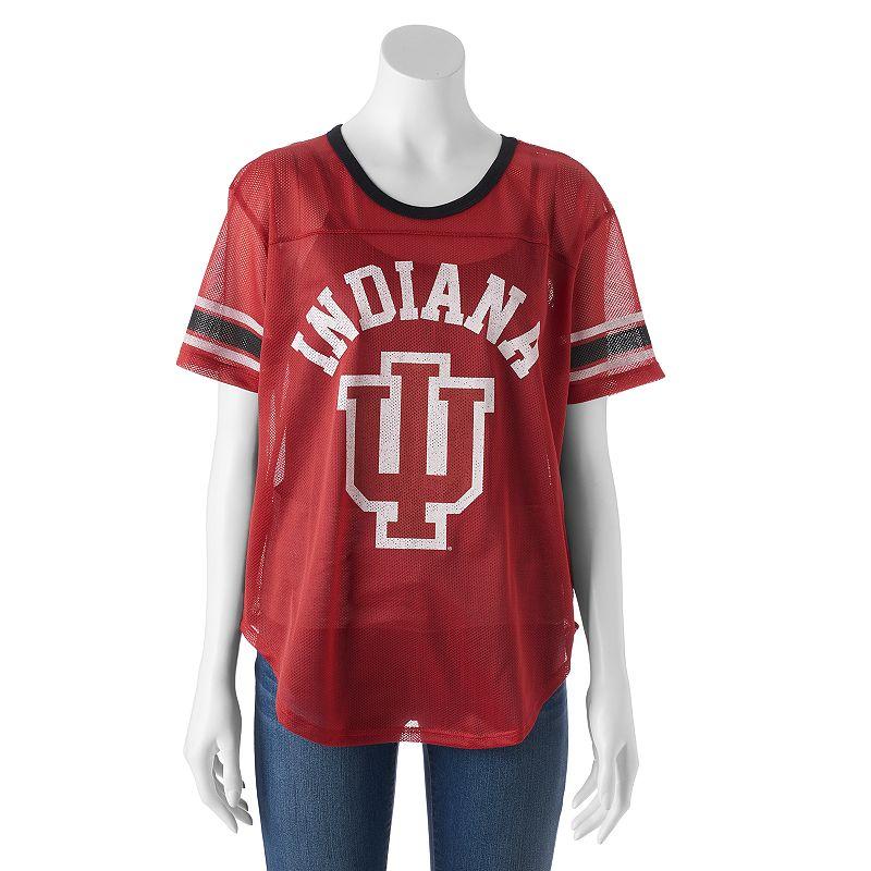 Women's Indiana Hoosiers Burnout Mesh Jersey