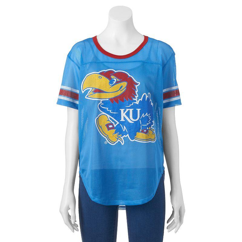 Women's Kansas Jayhawks Burnout Mesh Jersey