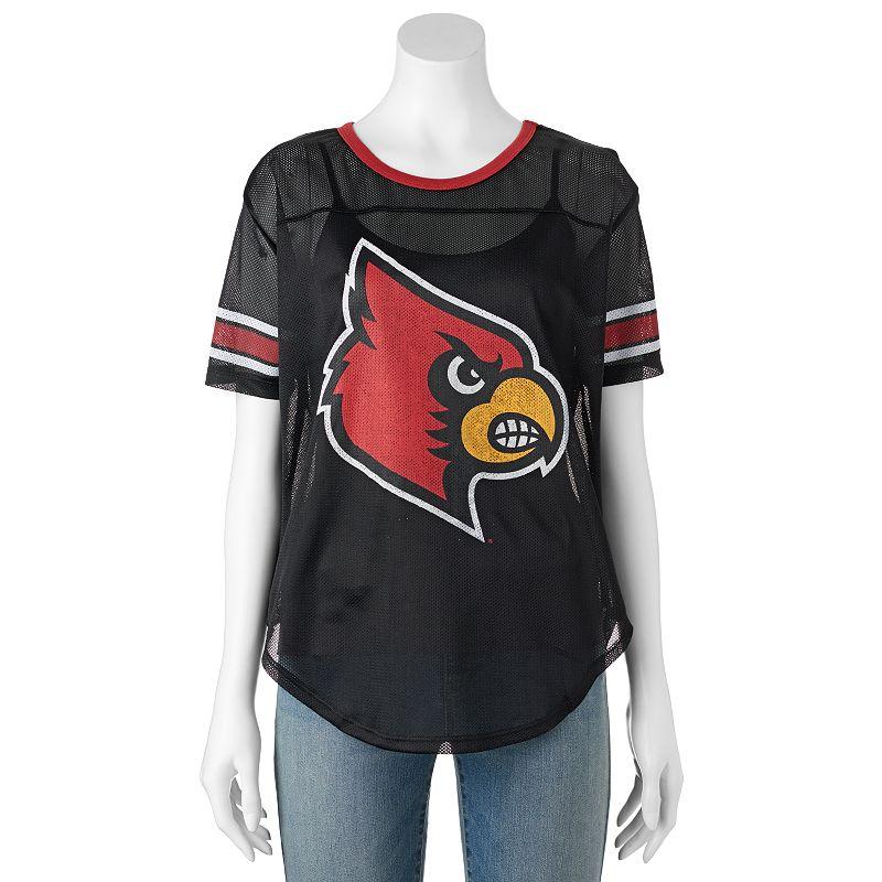Women's Louisville Cardinals Burnout Mesh Jersey