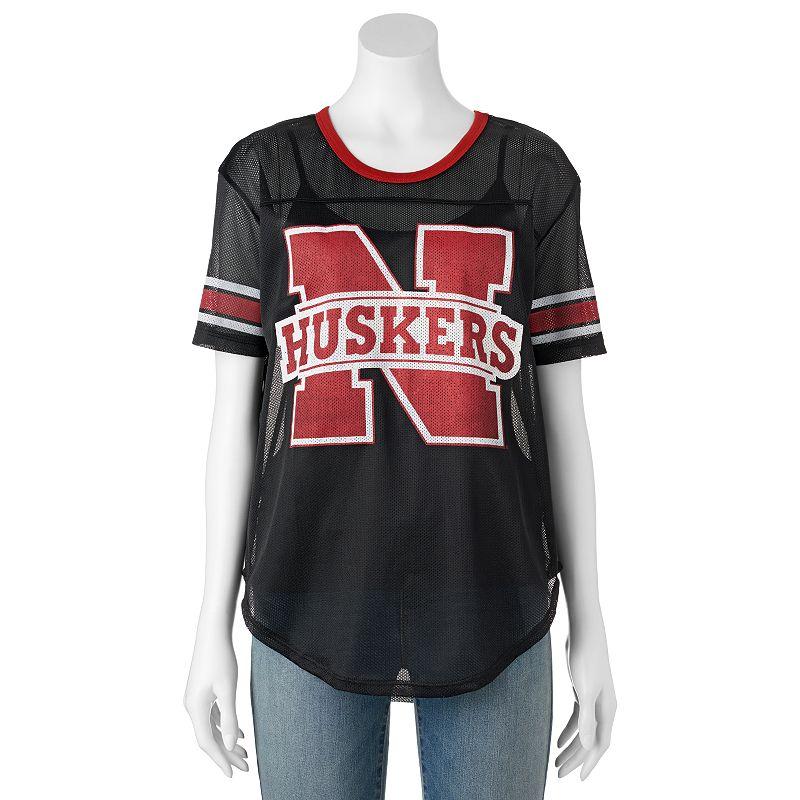 Women's Nebraska Cornhuskers Burnout Mesh Jersey