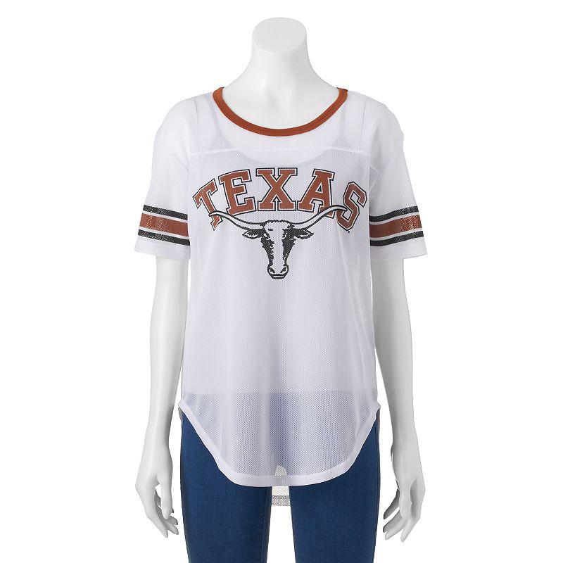 Women's Texas Longhorns Burnout Mesh Jersey