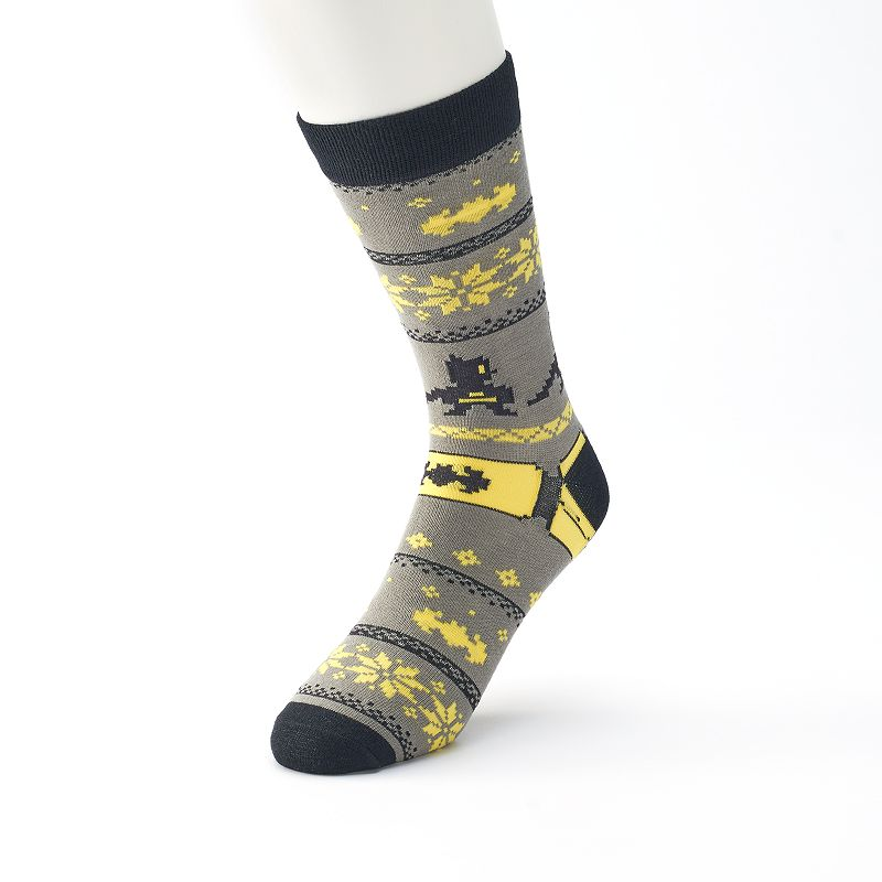 Men's DC Comics Batman Faux Sweater Crew Socks