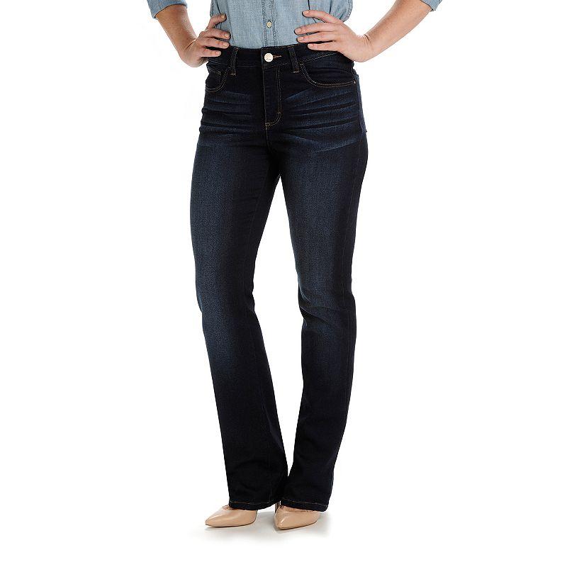 Petite Lee Sophie Classic Fit Straight-Leg Knit Jeans