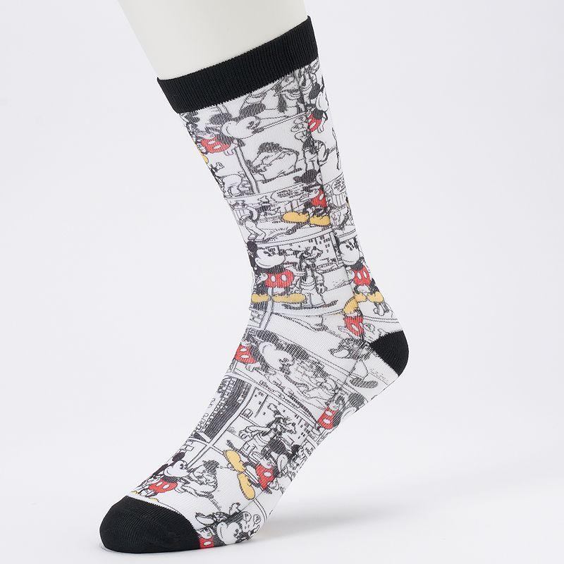 Men's Disney's Mickey Mouse Comic Print Crew Socks