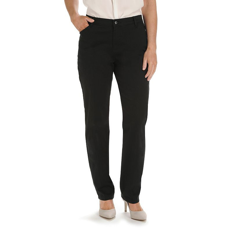 Petite Lee Relaxed Fit Straight-Leg Twill Pants