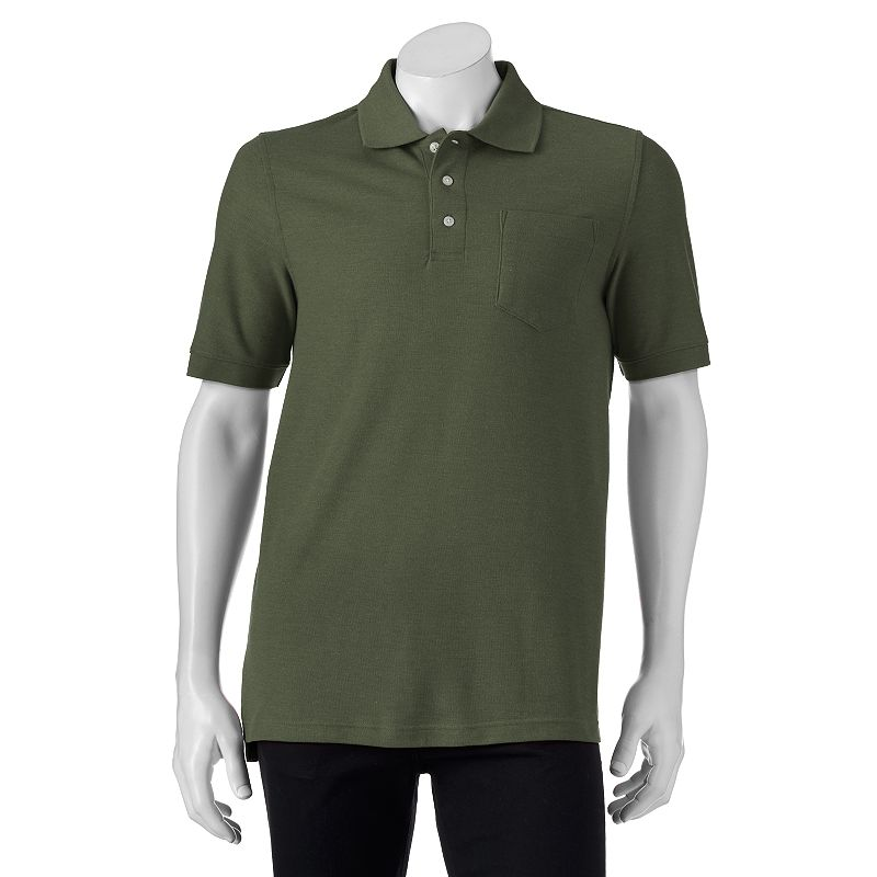Big & Tall Croft & Barrow® Heathered Pique Classic-Fit Polo