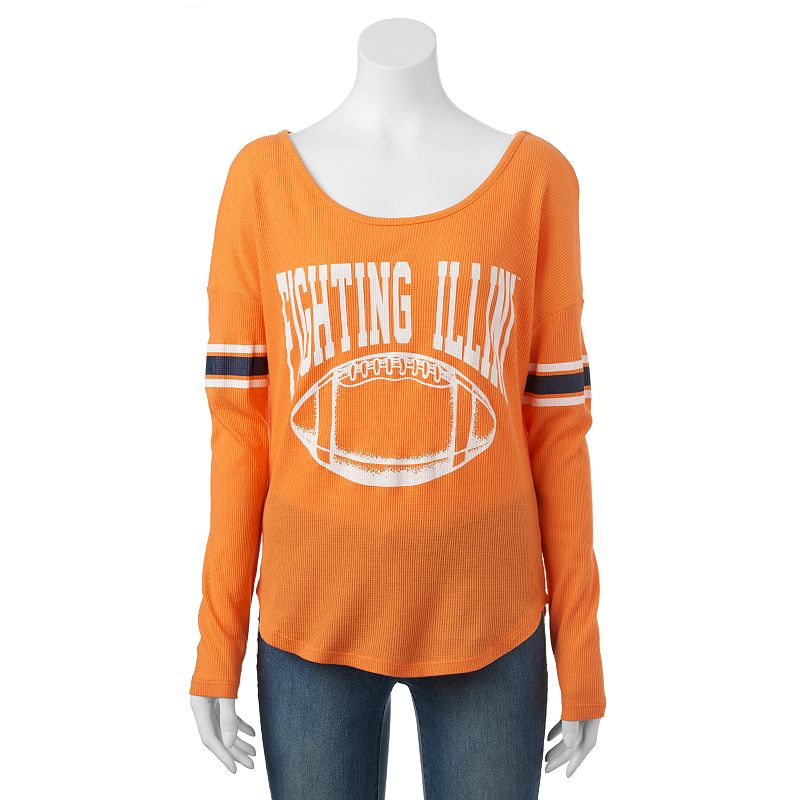 Women's Illinois Fighting Illini Waffle Burnout Tee