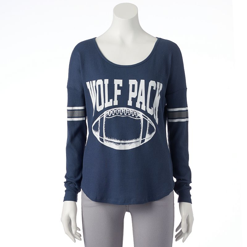 Woman's Nevada Wolf Pack Waffle Burnout Tee