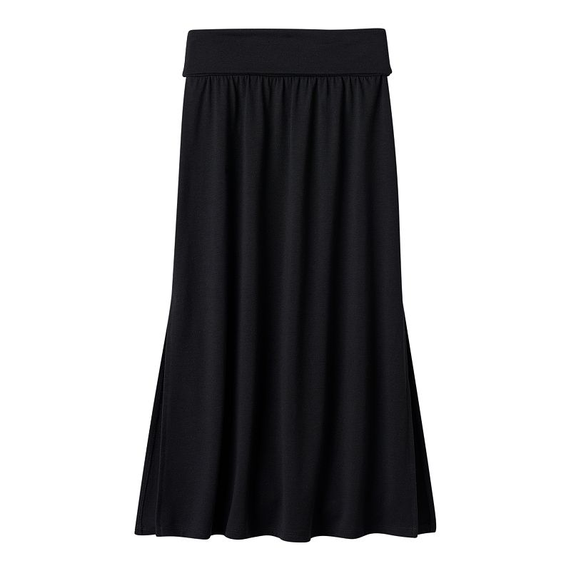 Girls 7-16 Joey B Solid Fold Over Knit Maxi Skirt