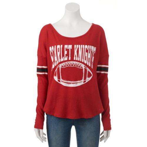 Women's Rutgers Scarlet Knights Waffle Burnout Tee