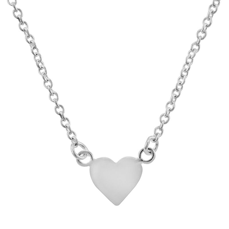 Itsy Bitsy Sterling Silver Heart Link Necklace