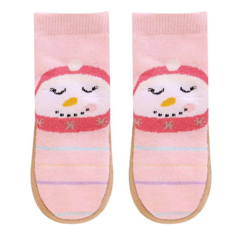 Jumping beans 174 baby toddler girl snowman slipper socks