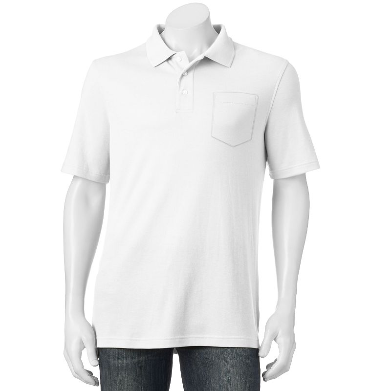 Men's Croft & Barrow® Solid Interlock Easy Care Pocket Polo