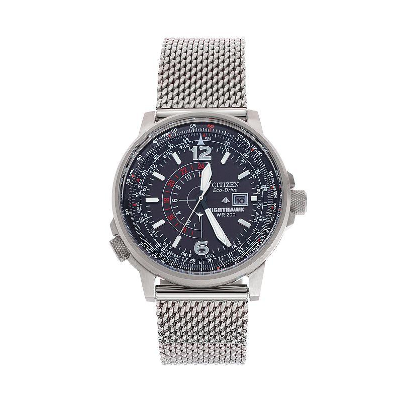 Citizen Eco-Drive Men's Nighthawk Stainless Steel Watch - BJ7008-51E