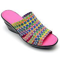 Corkys Ribbon Women's Slip-On Wedge Sandals