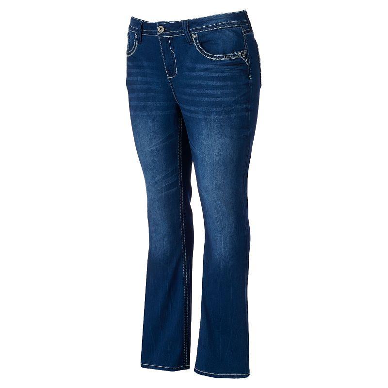 Juniors' Plus Size Hydraulic Lola Bootcut Jeans