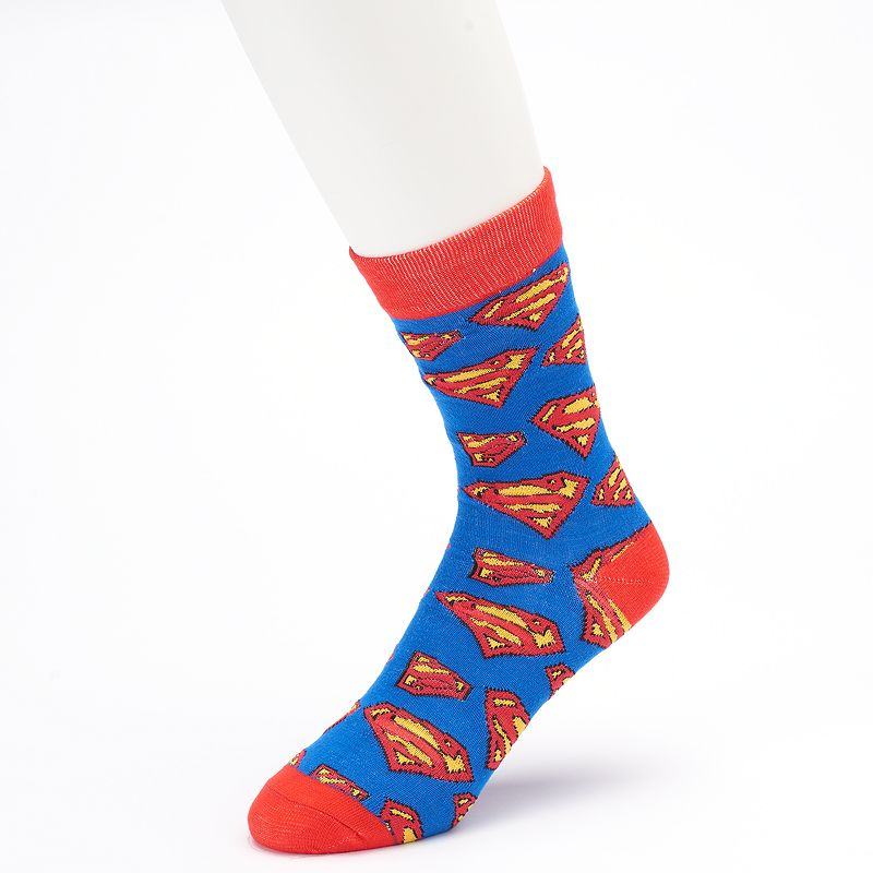 Men's DC Comics Superman Logo Crew Socks