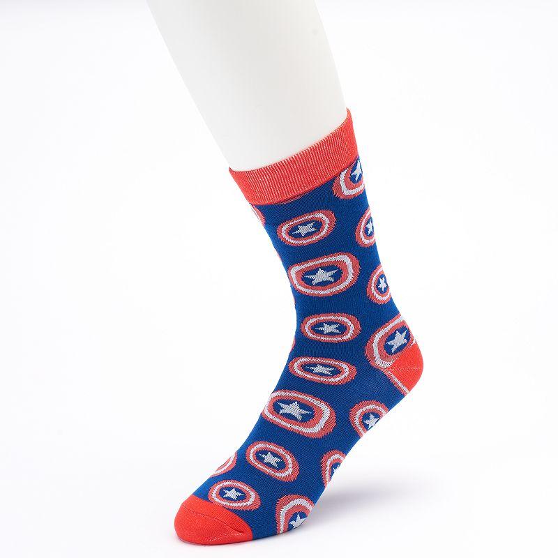 Men's Marvel Captain America Shield Crew Socks