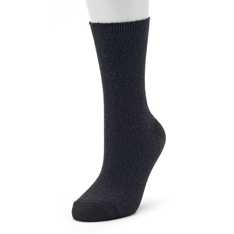 Cuddl Duds Solid Crew Socks - Women