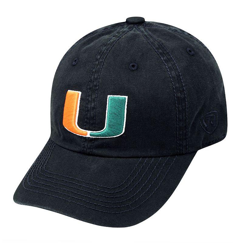 Adult Top Of The World Miami Hurricanes Crew Baseball Cap