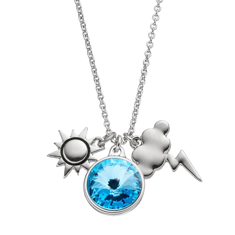 Charming Inspirations Sun & Storm Cloud Charm Necklace