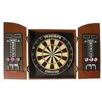 Triumph Sports USA Wellington Bristle Dartboard with Arch Cabinet