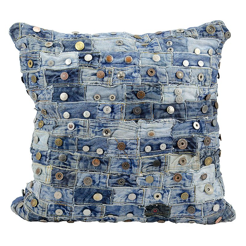 Mina Victory 20'' x 20'' Denim Throw Pillow