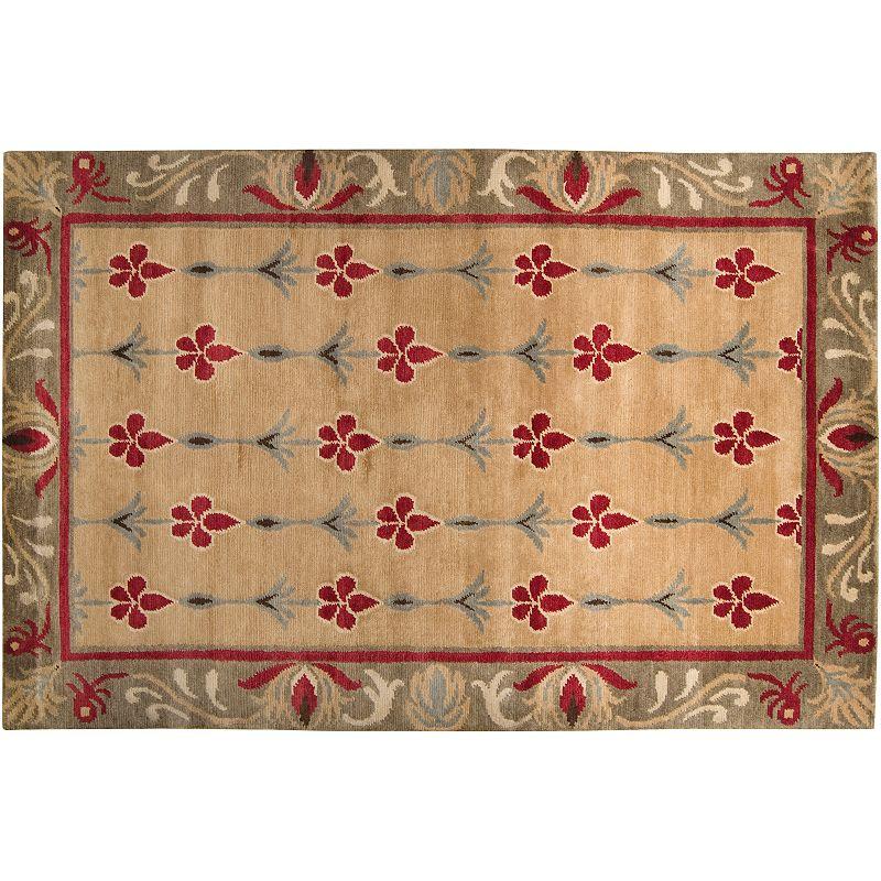 Artisan Weaver Stroud Floral Framed Wool Rug