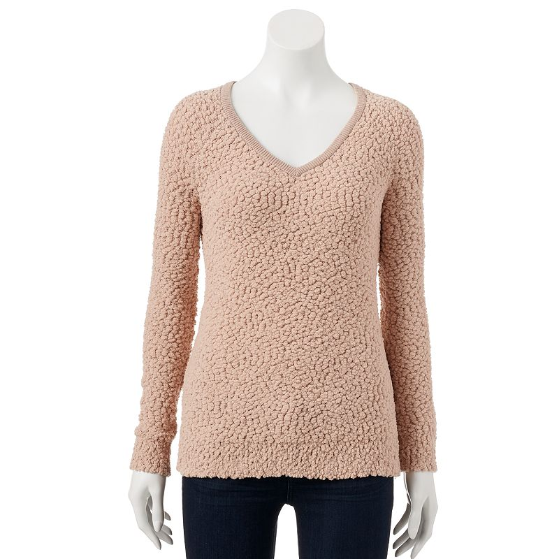 Women's SONOMA Goods for Life™ Textured V-Neck Sweater