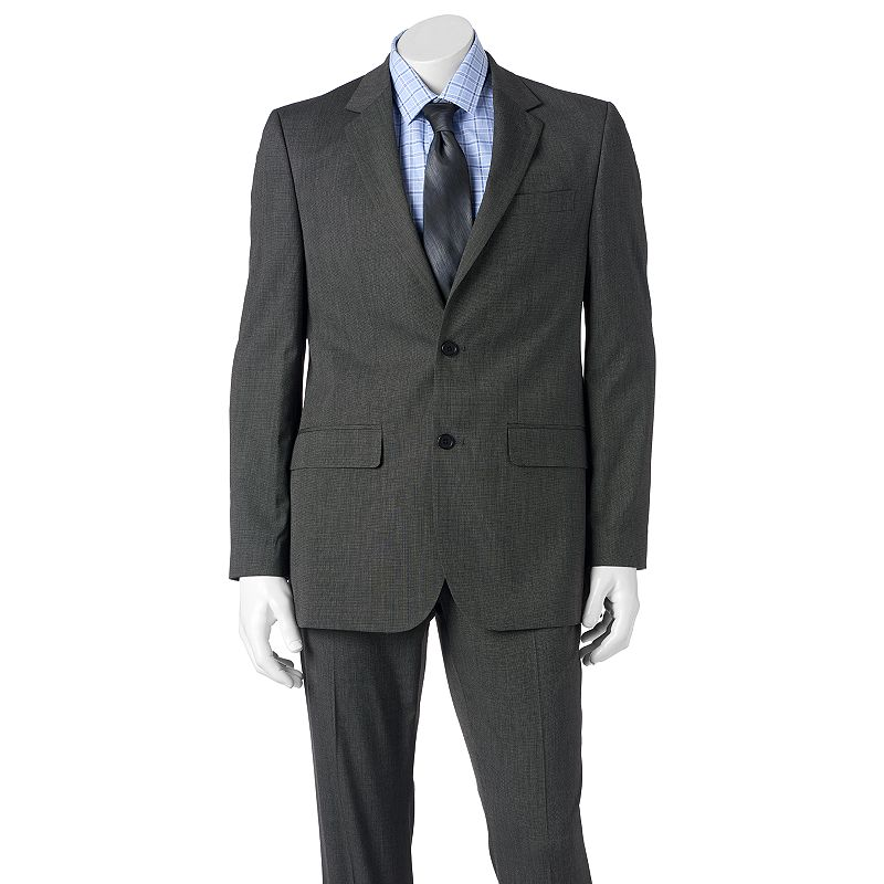 Men's Apt. 9® Slim-Fit Black Pindot Suit