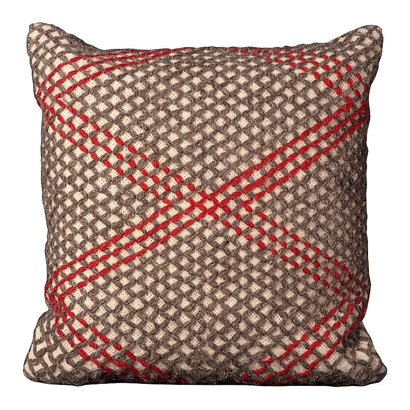 Mina Victory 20'' x 20'' Zig Zag Throw Pillow