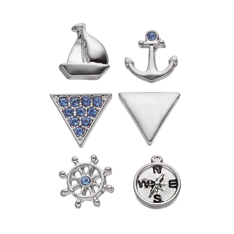 Charming Inspirations Nautical Mismatch Stud Earring Set