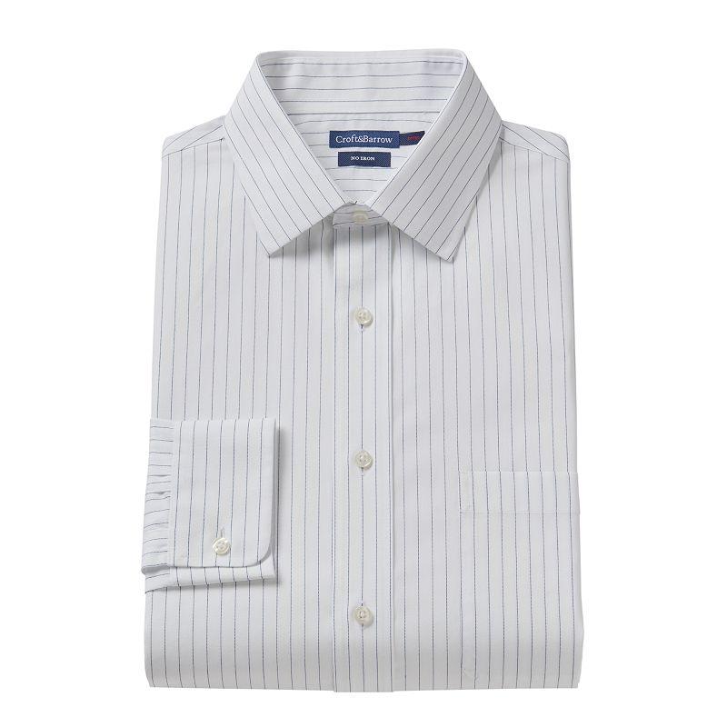 Croft & Barrow® Slim-Fit Pencil-Striped Dress Shirt - Men