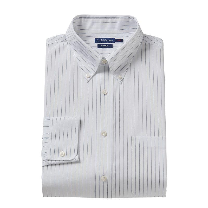 Croft & Barrow® Slim-Fitted Pencil-Striped Dress Shirt - Men