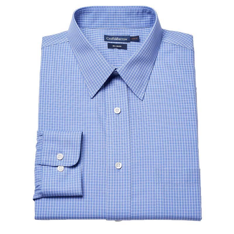 Croft & Barrow® Slim-Fit Grid No-Iron Dress Shirt - Men