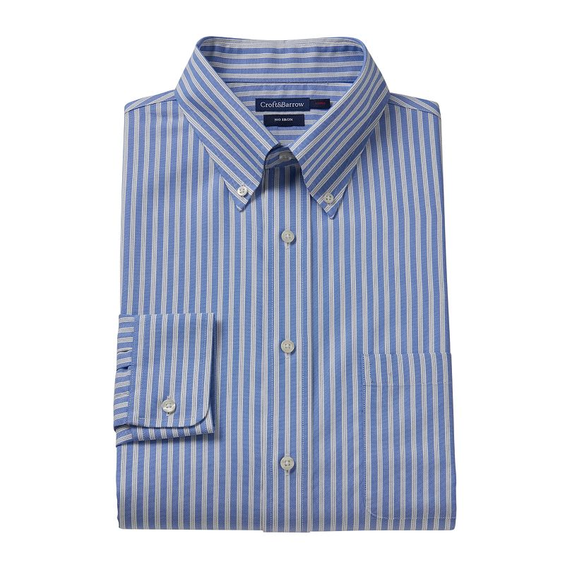 Croft & Barrow® Fitted Striped No-Iron Dress Shirt - Men