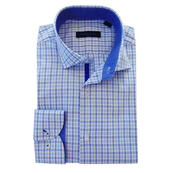 Men's Andrew Fezza Slim-Fit Plaid Dress Shirt - Men