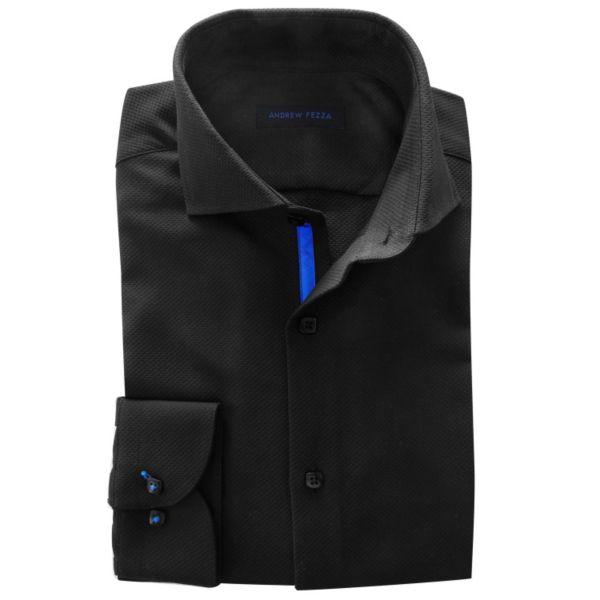 Men's Andrew Fezza Slim-Fit Textured Dress Shirt - Men